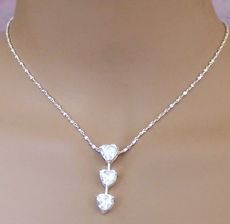 MY HEART STRINGS CZ CUBIC ZIRCONIA NECKLACE SET