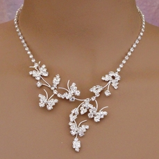 BUTTERFLIES ARE FREE NECKLACE SET
