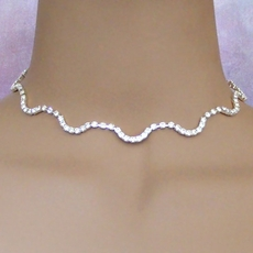S-SHAPED NECKLACE-EARRINGS SET
