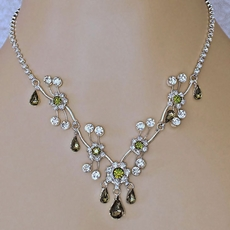 SOFIA MOSS GREEN RHINESTONE JEWELRY SET FOR BRIDESMAIDS