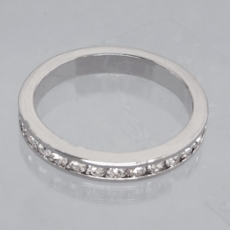 SIZZLE CZ CUBIC ZIRCONIA<BR>WEDDING BAND RING<br>Size 6, Size 7
