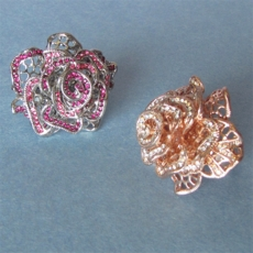 FRILLY ROSE COSTUME JEWELRY RING