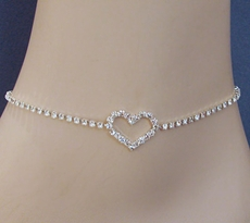 HEARTS RHINESTONE ANKLET