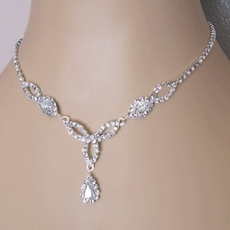 Rhinestone Jewelry Sets - Clear Crystals