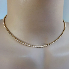 SLENDER  STRAND GOLD CHOKER SET<br>ONLY TWO SETS REMAINING