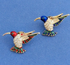 COLORFUL RED HUMMINGBIRD TIE TACK-PIN - BLUE SOLD OUT