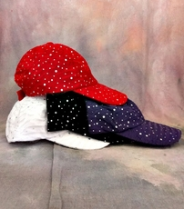 RHINESTONE BASEBALL CAP - PURPLE ONLY