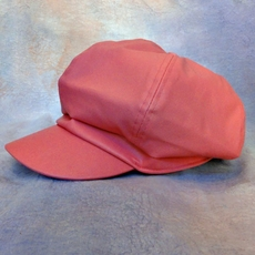 LEATHER-LIKE PINK NEWSBOY HAT