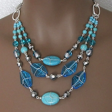 TURQUOISE  TREASURE GEMSTONE FASHION JEWELRY SET - SOLD OUT
