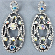 OVAL REFLECTIONS CRYSTAL EARRINGS