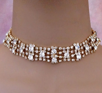 DIVA DIVINE GOLD CHOKER SET - SOLD OUT