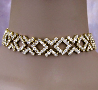 PRETTY PLEASE GOLD RHINESTONE SET