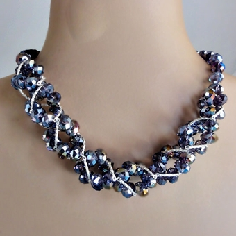 TWIST AND SHOUT PURPLE<BR>CRYSTAL SET