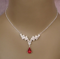 INDULGE RED COSTUME JEWELRY RHINESTONE SET