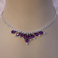 CLUSTER BEAUTY PURPLE<BR>RHINESTONE SET