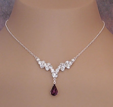 INDULGE RHINESTONE NECKLACE SET
