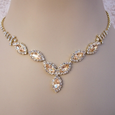 ROSANTI LIGHT TOPAZ <BR>RHINESTONE JEWELRY SET