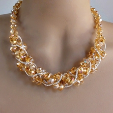 TWIST AND SHOUT GOLD CRYSTAL SET - LIMITED SUPPLY - NO MATCHING EARRINGS - ONE REMAINING SET