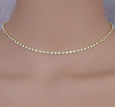SINGLE STRAND CHOKER SET<br>FOUR GOLD SETS REMAINING