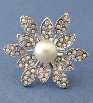 PEARL SUNFLOWER RING