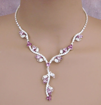 DELICATE PETALS ROSE NECKLACE SET<br>ONE REMAINING SET