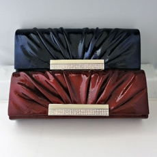 POLISHED PURSE<BR>TWO BURGUNDY REMAINING