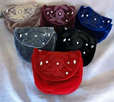Elegant Velveteen Beaded Fanny Pack
