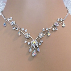SOFIA RHINESTONE CLEAR-AB NECKLACE SET