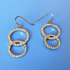CIRCLES AROUND GOLD EARRINGS