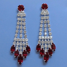 SOMETHING SPECIAL DEEP RED RHINESTONE EARRINGS
