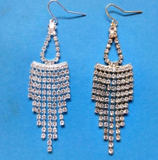 RHINESTONE SPLASH EARRINGS