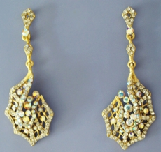 GOLDEN WEB CHANDELIER EARRINGS