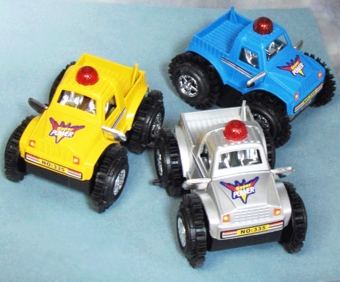 BATTERY OPERATED CAR - YELLOW OR SILVER REMAINING