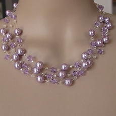 CRYSTAL SWIRL LAVENDER-PURPLE JEWELRY SET