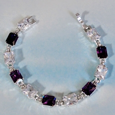 PURPLE DAZZLE RHINESTONE BRACELET*<BR>ONLY ONE AVAILABLE