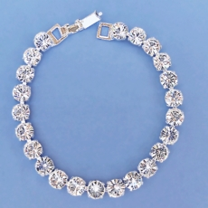 LUXURY RHINESTONE CLEAR BRACELET