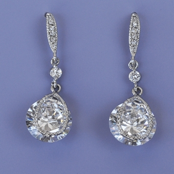 ADMIRE CZ RHINESTONE EARRINGS - TEMP SOLD OUT