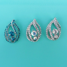 SHIVERA RHINESTONE EARRINGS<BR>MORE COLORS