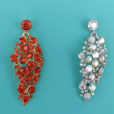 GIZELLE RHINESTONE ORANGE EARRINGS - SOLD OUT OF CLEAR-AB