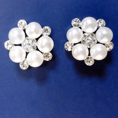 BRIDAL BEADS PEARL EARRINGS