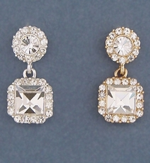 RADIANT CRYSTAL EARRINGS <br>SILVER or GOLD