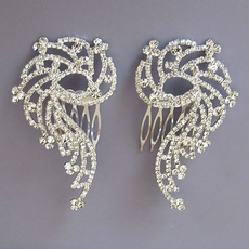 DYNO DUO RHINESTONE HAIRCOMB PAIR