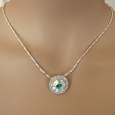 ACAPULCO RHINESTONE AB NECKLACE SET