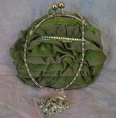 LAYERED APPEAL MOSS GREEN EVENING BAG - PURSE<br>ONE AVAILABLE