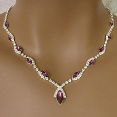 RUMBA PURPLE RHINESTONE JEWELRY SET - ONE REMAINING SET