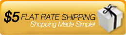 $5 Flat rate shipping- available on all orders