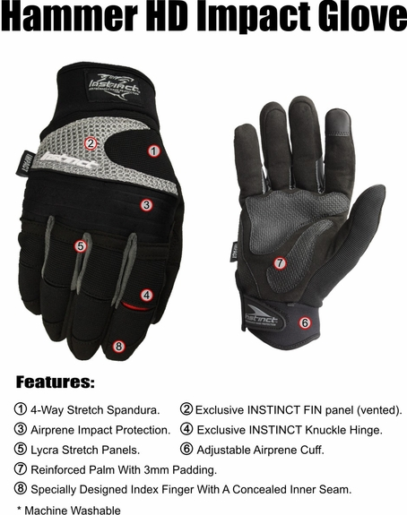 HAMMER HD- Impact Padded Palm
