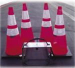 Set of 4 Spring Traffic Cones