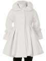 White Fleece Bubble Coat