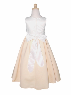 Ivory Flower Girl Dress - Matte Satin Pearl Dress